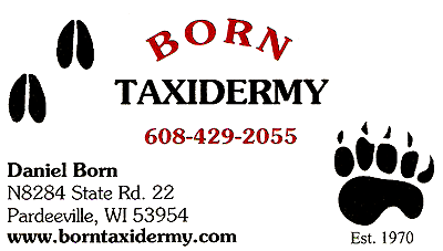 Born Taxidermy, N8284 State Rd. 22, Pardeeville, WI 53954 - 608-429-2055